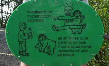 Monkeys don't take responsibility.